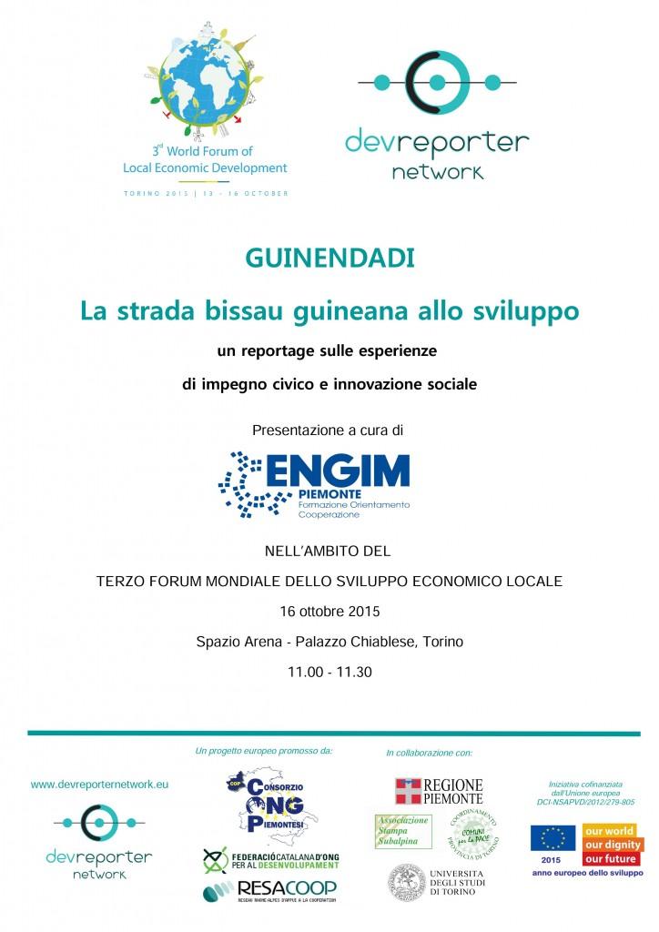 Locandina 16 ottobre ENGIM Guinendadi Forum